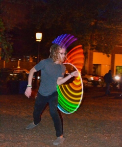 "I'm not sure if I should call him a ""hula hoop dancer,"" but that's all I've got."