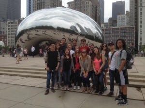 Our tour ended with a obligatory group picture in front of the Bean. Or Cloudgate. Or whichever.